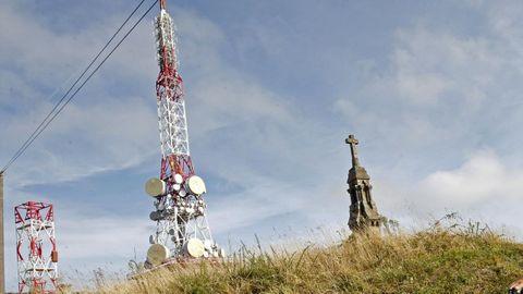 Antenas del Monte Pedroso, donde se produjo el suceso