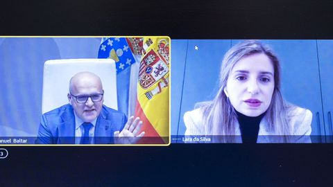 Videoconferencia de José Manuel Baltar y Lara da Silva