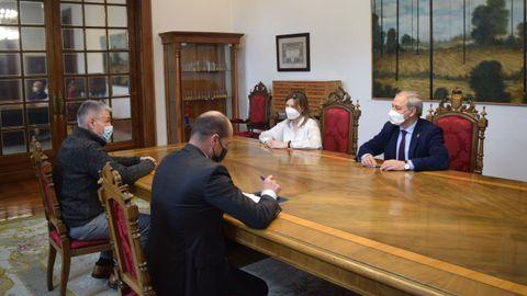 Reunión de la Fundación Agroalimentaria con el presidente de la Diputación de Lugo