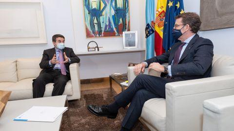 Reunión entre el consejero delegado de Repsol, Josu Jon Imaz,  y el presidente de la Xunta de Galicia, Alberto Núñez Feijoo