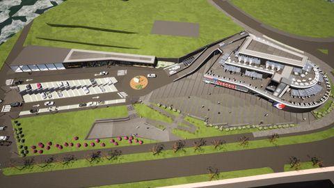 Proyecto de un nuevo hipermercado Eroski junto a la rotonda del Che Guevara, en Nirvana