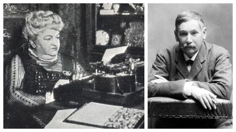 Retratos de Emilia Pardo Bazán (A Coruña, 1851-Madrid, 1921) e Benito Pérez Galdós (Las Palmas, 1843-Madrid, 1920)