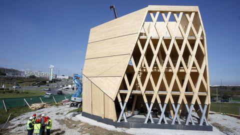 Así es el edificio de madera Impulso Verde