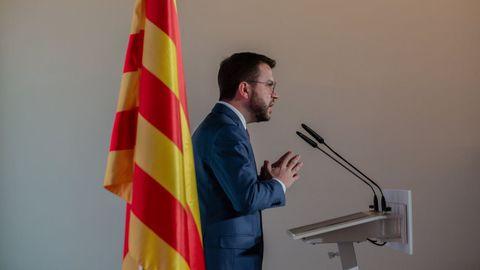 El vicepresidente en funciones de la Generalitat, Pere Aragonès
