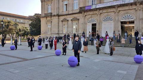 Acto institucional en la Diputación de Pontevedra