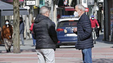 Una calle de la ciudad de Pontevedra