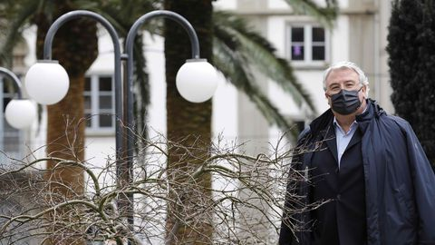 Francisco Rivas ayer en Foz, donde reside con su familia