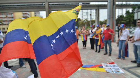 Venezolanos residentes en Miami (Estados Unidos), en una imagen de archivo