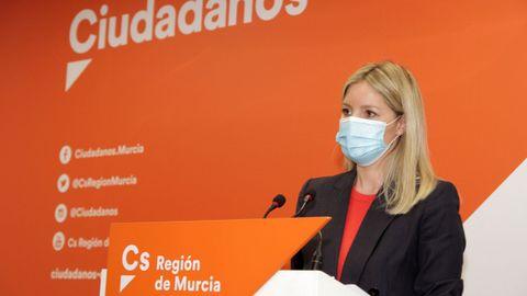 Ana Martínez Vidal (Ciudadanos), actual portavoz del Gobierno regional, sería la candidata a la Presidencia de Murcia presentada por ambos partidos
