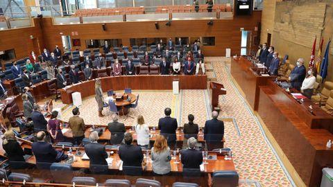 Vista general del pleno de la Asamblea de Madrid, en una imagen de archivo