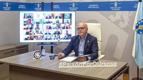Baltar participó en la reunión telemática de la comisión de gobiernos provinciales de la FEMP