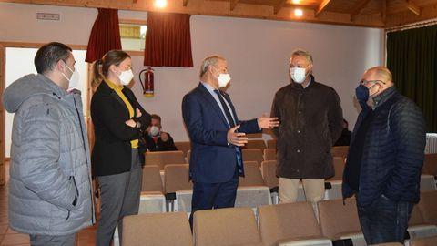 El presidente de la Diputación de Lugo con los alcaldes de A Fonsagrada, Negueira y Ribeira de Piquín