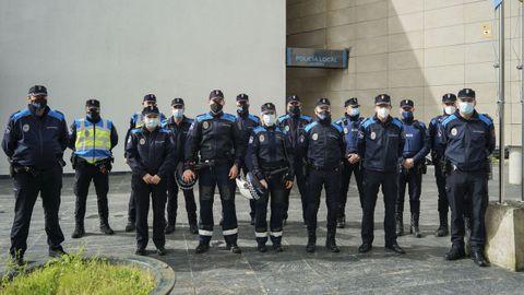 Miembros de la Policía Local de Ourense