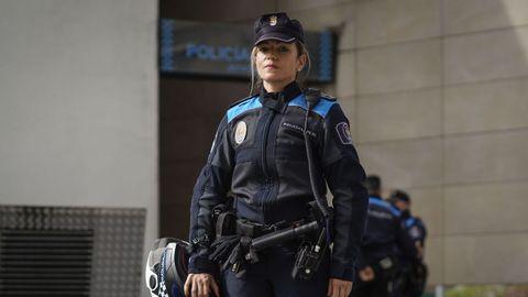 Lorena Gómez es policía local en Ourense