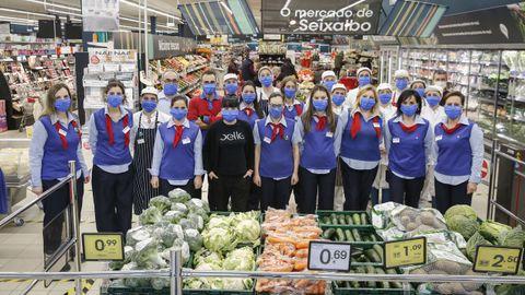 El equipo del supermercado Eroski de Seixalbo