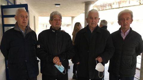 José, Emilio, Juan y Manolo Pita Bedoya, vacunados en Sada