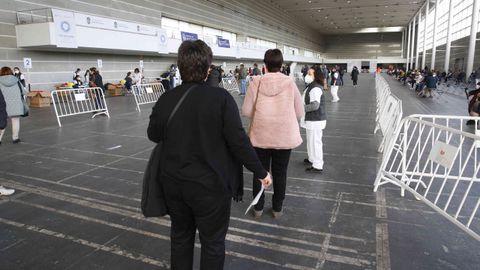 Jornada de vacunación masiva en el recinto ferial de Pontevedra