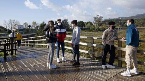Chequeo en el paseo boirense del rio Coroño