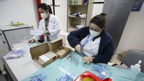 Vacunación a población de entre 50 y 55 años el pasado fin de semana en A Malata