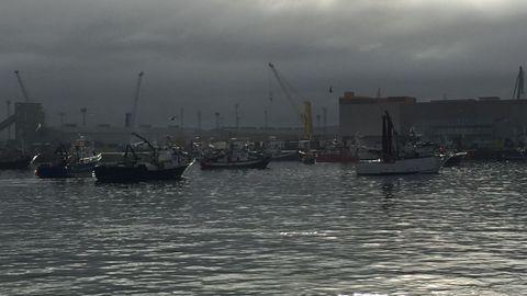 Siguiendo los bancos de bocarte, barcos de distintas comunidades formaron colas el pasado agosto en el puerto de A Coruña para descargar sus capturas