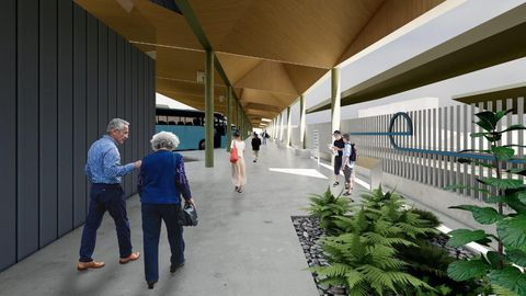 Diseño de la estación de buses en la Intermodal de Lugo