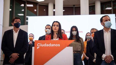 Arrimadas comparece tras la reunión de la Ejecutiva de Ciudadanos