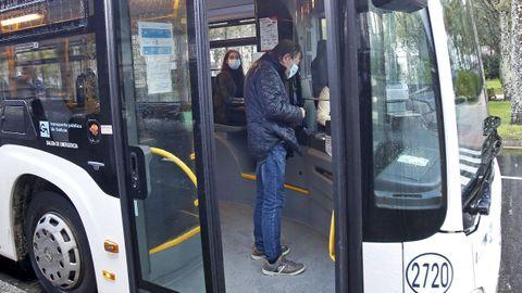 Un bus en la ciudad de Pontevedra