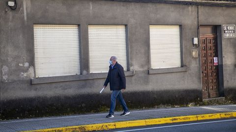 Manuel Maldonado se desplazó esta semana a Boiro para ir a la casa de su madre