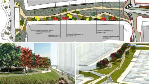 Plano del proyecto del corredor verde en Novo Mesoiro