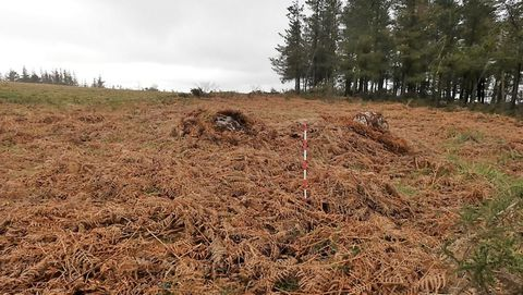Os túmulos funerarios están na Serra do Rañadoiro de Baralla