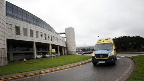 Hospital Montecelo, en Pontevedra, donde este viernes hay 10 pacientes covid en planta y otros 7 en uci