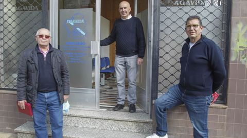 Ramón Río, Xoán Xosé Pita y Rafael Pillado, en Agavida