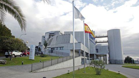 Hospital Montecelo, en Pontevedra, donde este viernes ingresados 10 pacientes covid en planta y 6 en la uci