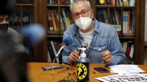 El director de la Semana Negra de Gijón, Ángel de la Calle, durante la presentación de la 34 edición del festival