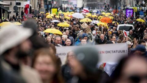 En Amsterdam también hubo protestas