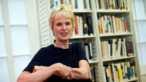 Siri Hustvedt, en el Instituto Cervantes de Londres