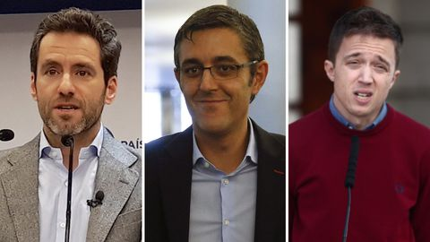 Borja Semper, Eduardo Madina e Íñigo Errejón, en una imagen de archivo