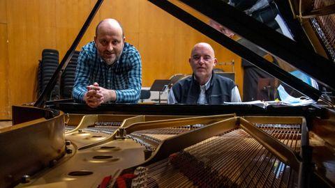 El barítono Eliseu Mera y el pianista Cándido Cabaleiro