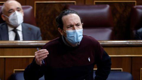 Pablo Iglesias, en su última sesión de control en el Congreso de los Diputados