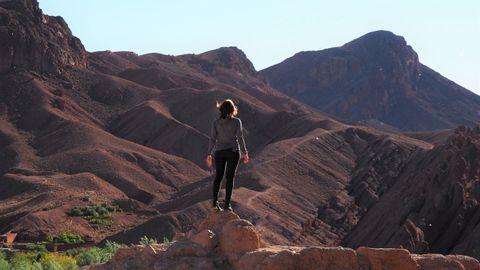 Inma tras pasar las montañas del Atlas en dirección al desierto, en el 2018