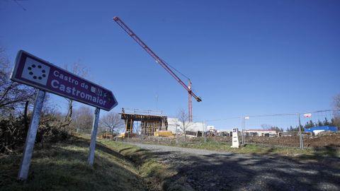 Construcción del centro de visitantes de Castromaior