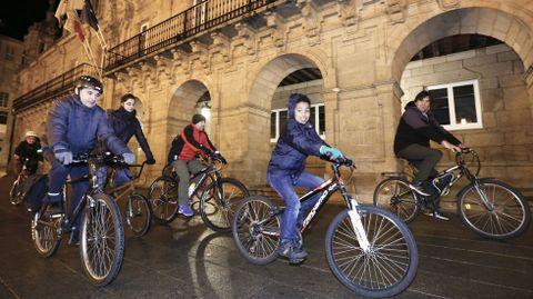 Imagen de archivo de un paseo en bicicleta organizado por el colectivo Masa Crítica
