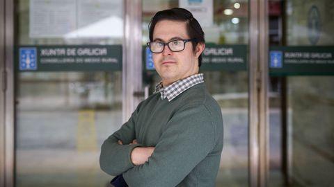 Jacobo, usuario de Down Ourense y trabajador de la Consellería de Medio Rural