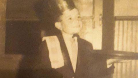 Luís, de cativo na Tasca, que puxeron en marcha seus pais
