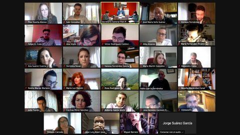 Reunión telemática de la Comisión Ejecutiva Autonómica de la FSA-PSOE - FSA-PSOE