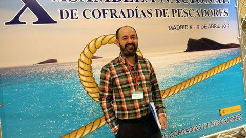 Basilio Otero, en el 2017, cuando fue elegido por primera vez presidente de la federación española de cofradías de pescadores