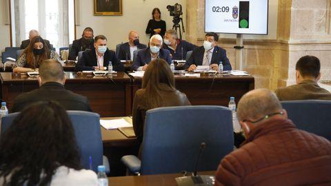 Grupo popular en el pleno de la Diputación de Lugo