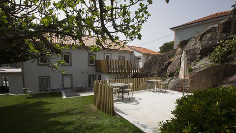 La terraza del hotel boutique Mar do Ézaro