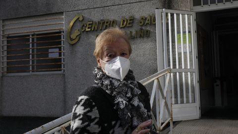 Pilar Gulías, vecina de Beariz citada para vacunarse contra el covid-19