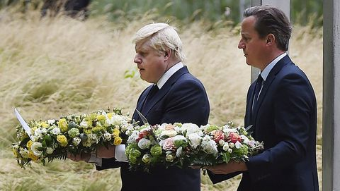 Boris Johnson y David Cameron, en un acto en el 2015